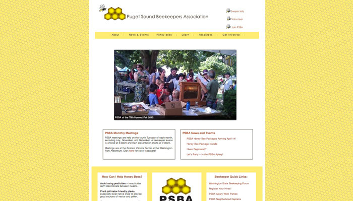 puget sound beekeepers association home page