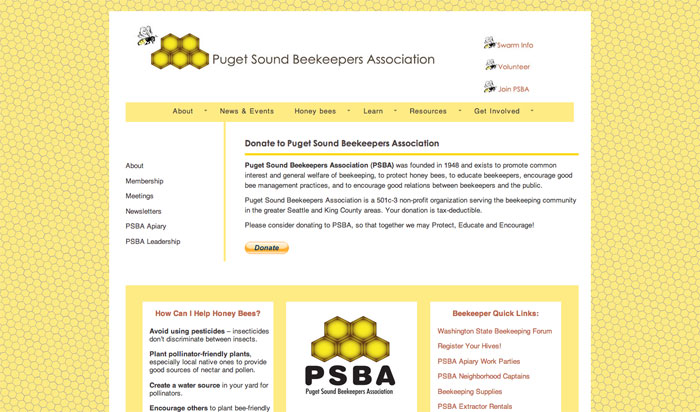 puget sound beekeepers association page