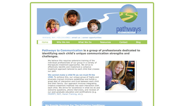 pathways to communication home page