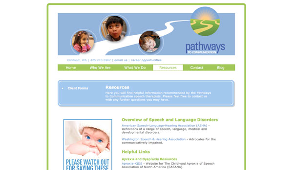 pathways to communication resources page