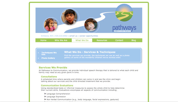 pathways to communication what we do page