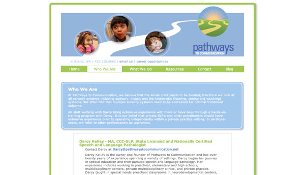 pathways to communication who we are page