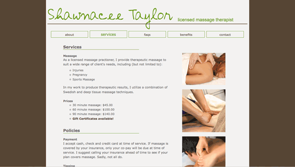 shawnacee taylor services page